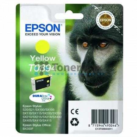 Epson T0894, C13T08944011, originální cartridge pro tiskárny Epson Stylus Office BX300F, Stylus S20, Stylus S21, Stylus SX100, Stylus SX105, Stylus SX110, Stylus SX115, Stylus SX200, Stylus SX205, Stylus SX210, Stylus SX215, Stylus SX218, Stylus SX400, St