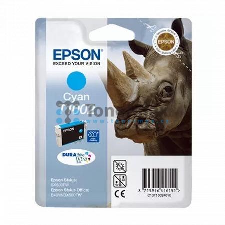 Epson T1002, C13T10024010, originální cartridge pro tiskárny Epson Stylus Office B40W, Stylus Office B1100, Stylus Office BX310FN, Stylus Office BX600FW, Stylus Office BX610FW, Stylus SX510W, Stylus SX515W, Stylus SX600FW, Stylus SX610FW