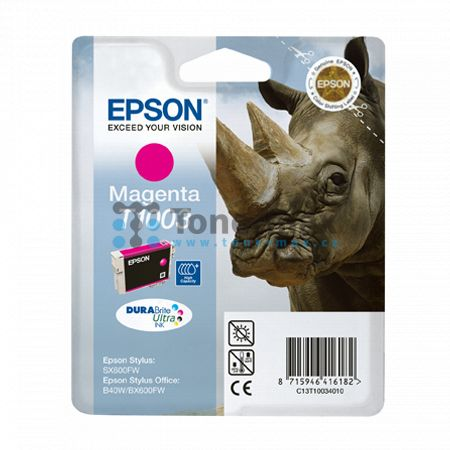 Epson T1003, C13T10034010, originální cartridge pro tiskárny Epson Stylus Office B40W, Stylus Office B1100, Stylus Office BX310FN, Stylus Office BX600FW, Stylus Office BX610FW, Stylus SX510W, Stylus SX515W, Stylus SX600FW, Stylus SX610FW