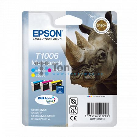 Epson T1006, C13T10064010, originální cartridge pro tiskárny Epson Stylus Office B40W, Stylus Office B1100, Stylus Office BX310FN, Stylus Office BX600FW, Stylus Office BX610FW, Stylus SX510W, Stylus SX515W, Stylus SX600FW, Stylus SX610FW