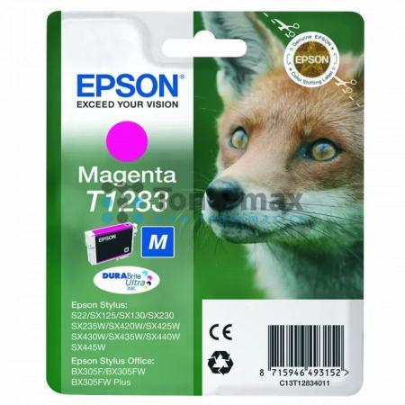 Epson T1283, C13T12834011, originální cartridge pro tiskárny Epson Stylus Office BX305F, Stylus Office BX305FW, Stylus Office BX305FW Plus, Stylus S22, Stylus SX125, Stylus SX130, Stylus SX230, Stylus SX235W, Stylus SX420W, Stylus SX425W, Stylus SX430W, S