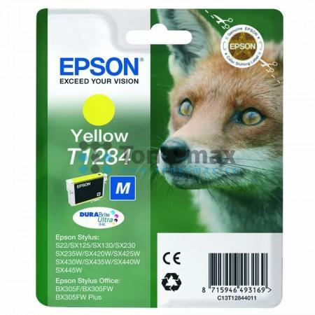 Epson T1284, C13T12844011, originální cartridge pro tiskárny Epson Stylus Office BX305F, Stylus Office BX305FW, Stylus Office BX305FW Plus, Stylus S22, Stylus SX125, Stylus SX130, Stylus SX230, Stylus SX235W, Stylus SX420W, Stylus SX425W, Stylus SX430W, S