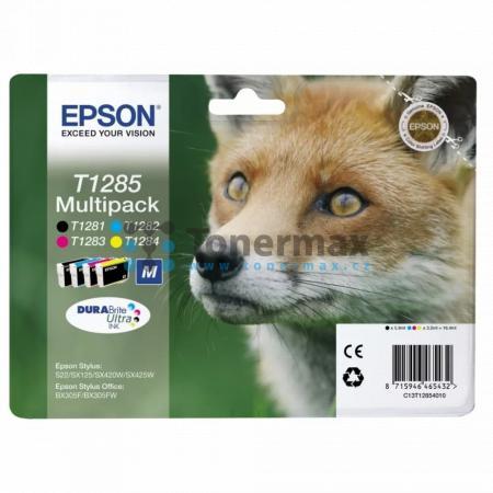 Epson T1285, C13T12854010, multipack, originální cartridge pro tiskárny Epson Stylus Office BX305F, Stylus Office BX305FW, Stylus Office BX305FW Plus, Stylus S22, Stylus SX125, Stylus SX130, Stylus SX230, Stylus SX235W, Stylus SX420W, Stylus SX425W, Stylu
