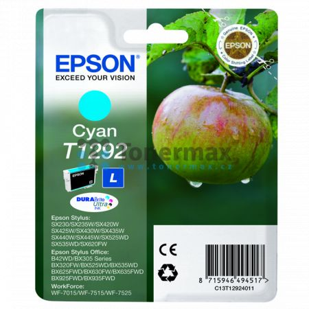 Epson T1292, C13T12924011, originální cartridge pro tiskárny Epson Stylus Office B42WD, Stylus Office BX305F, Stylus Office BX305FW, Stylus Office BX305FW Plus, Stylus Office BX320FW, Stylus Office BX525WD, Stylus Office BX535WD, Stylus Office BX625FWD, S