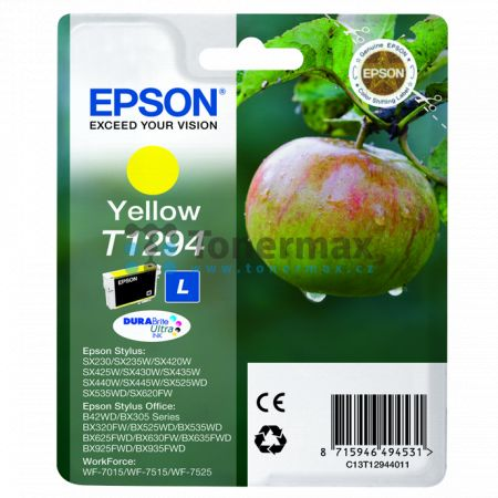Epson T1294, C13T12944011, originální cartridge pro tiskárny Epson Stylus Office B42WD, Stylus Office BX305F, Stylus Office BX305FW, Stylus Office BX305FW Plus, Stylus Office BX320FW, Stylus Office BX525WD, Stylus Office BX535WD, Stylus Office BX625FWD, S