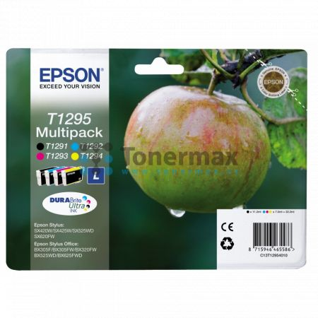 Epson T1295, C13T12954010, multipack, originální cartridge pro tiskárny Epson Stylus Office B42WD, Stylus Office BX305F, Stylus Office BX305FW, Stylus Office BX305FW Plus, Stylus Office BX320FW, Stylus Office BX525WD, Stylus Office BX535WD, Stylus Office