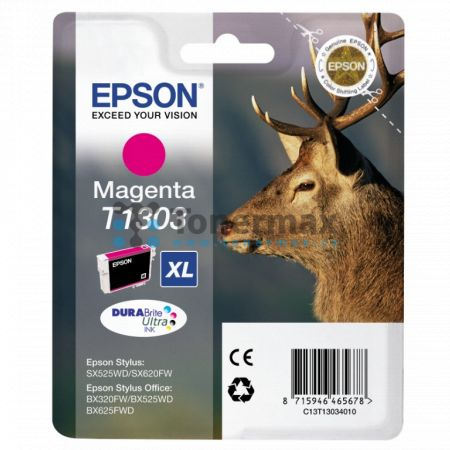 Epson T1303, C13T13034010, originální cartridge pro tiskárny Epson Stylus Office B42WD, Stylus Office BX320FW, Stylus Office BX525WD, Stylus Office BX535WD, Stylus Office BX625FWD, Stylus Office BX630FW, Stylus Office BX635FWD, Stylus Office BX925FWD, Sty