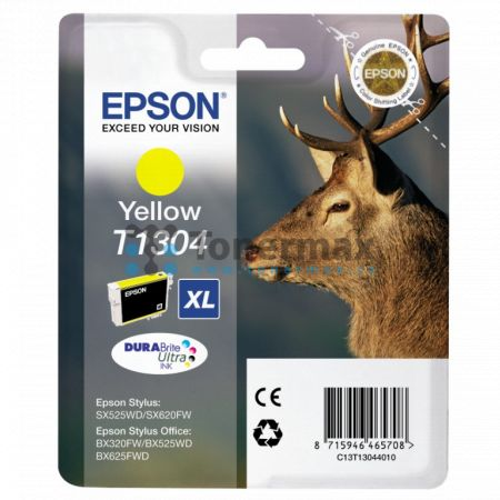 Epson T1304, C13T13044010, originální cartridge pro tiskárny Epson Stylus Office B42WD, Stylus Office BX320FW, Stylus Office BX525WD, Stylus Office BX535WD, Stylus Office BX625FWD, Stylus Office BX630FW, Stylus Office BX635FWD, Stylus Office BX925FWD, Sty