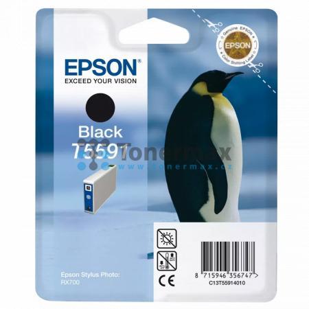 Epson T5591, C13T55914010, originální cartridge pro tiskárny Epson Stylus Photo RX700