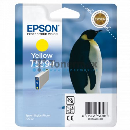 Epson T5594, C13T55944010, originální cartridge pro tiskárny Epson Stylus Photo RX700