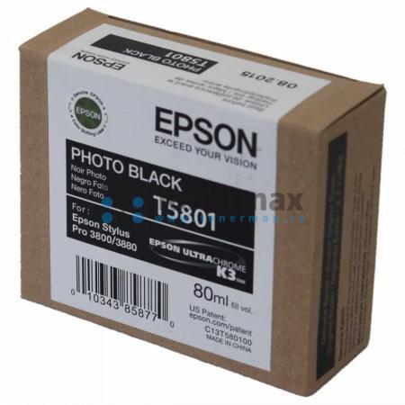 Epson T5801, C13T580100, originální cartridge pro tiskárny Epson Stylus Pro 3800, Stylus Pro 3880