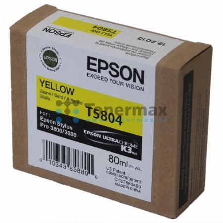 Epson T5804, C13T580400, originální cartridge pro tiskárny Epson Stylus Pro 3800, Stylus Pro 3880