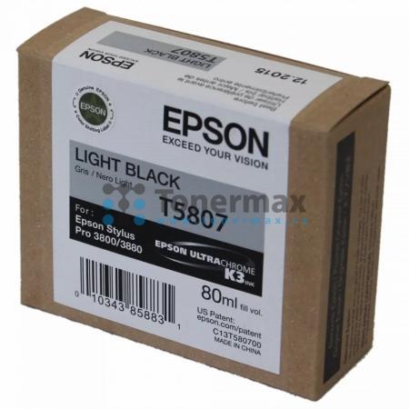 Epson T5807, C13T580700, originální cartridge pro tiskárny Epson Stylus Pro 3800, Stylus Pro 3880