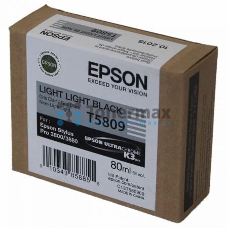 Epson T5809, C13T580900, originální cartridge pro tiskárny Epson Stylus Pro 3800, Stylus Pro 3880