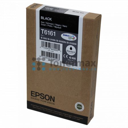 Epson T6161, C13T616100, originální cartridge pro tiskárny Epson B-300, B-310N, B-500DN, B-510DN