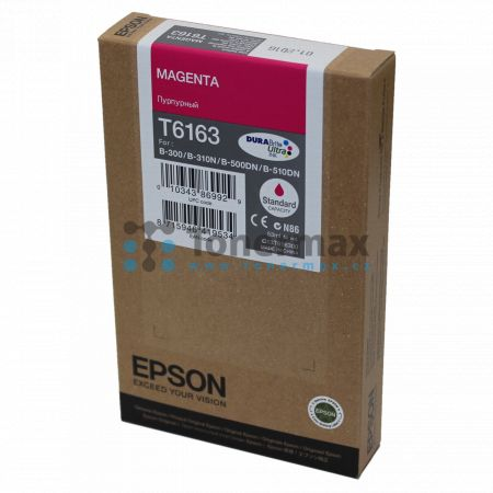 Epson T6163, C13T616300, originální cartridge pro tiskárny Epson B-300, B-310N, B-500DN, B-510DN