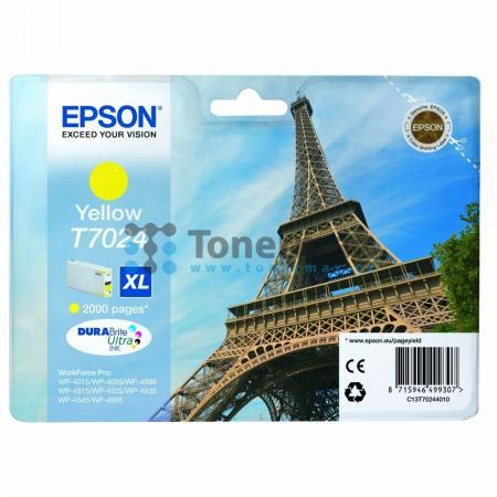Epson T7024, C13T70244010, originální cartridge pro tiskárny Epson WP-4015, WorkForce Pro WP-4015, WP-4015DN, WorkForce Pro WP-4015DN, WP-4025, WorkForce Pro WP-4025, WP-4025DW, WorkForce Pro WP-4025DW, WP-4095, WorkForce Pro WP-4095, WP-4095DN, WorkForce
