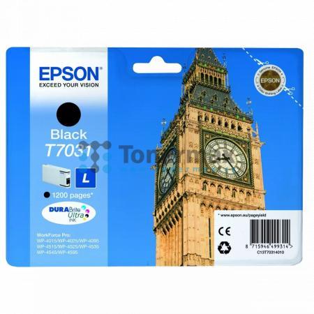 Epson T7031, C13T70314010, originální cartridge pro tiskárny Epson WP-4015, WorkForce Pro WP-4015, WP-4015DN, WorkForce Pro WP-4015DN, WP-4025, WorkForce Pro WP-4025, WP-4025DW, WorkForce Pro WP-4025DW, WP-4095, WorkForce Pro WP-4095, WP-4095DN, WorkForce
