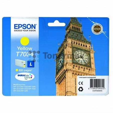 Epson T7034, C13T70344010, originální cartridge pro tiskárny Epson WP-4015, WorkForce Pro WP-4015, WP-4015DN, WorkForce Pro WP-4015DN, WP-4025, WorkForce Pro WP-4025, WP-4025DW, WorkForce Pro WP-4025DW, WP-4095, WorkForce Pro WP-4095, WP-4095DN, WorkForce