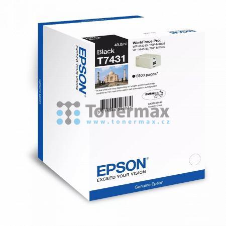 Epson T7431, C13T74314010, originální cartridge pro tiskárny Epson WorkForce Pro WP-M4015, WorkForce Pro WP-M4015DN, WorkForce Pro WP-M4095, WorkForce Pro WP-M4095DN, WorkForce Pro WP-M4525, WorkForce Pro WP-M4525DNF, WorkForce Pro WP-M4595, WorkForce Pro