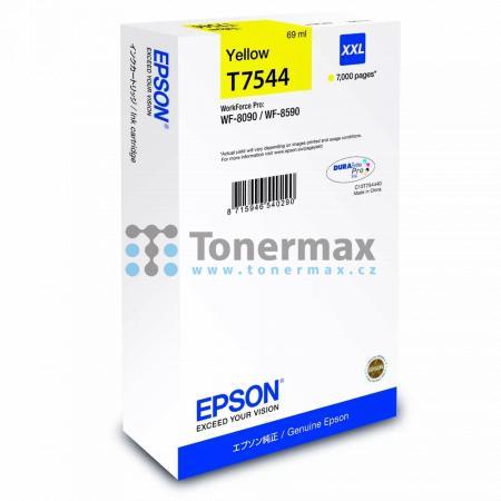 Epson T7544, C13T754440 (XXL), originální cartridge pro tiskárny Epson WorkForce Pro WF-8090, WorkForce Pro WF-8090D3TWC, WorkForce Pro WF-8090DTW, WorkForce Pro WF-8090DTWC, WorkForce Pro WF-8090DW, WorkForce Pro WF-8590, WorkForce Pro WF-8590D3TWFC, Wor