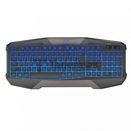 Herní klávesnice E-Blue Cobra Commander, černá, USB, US, podsvícená