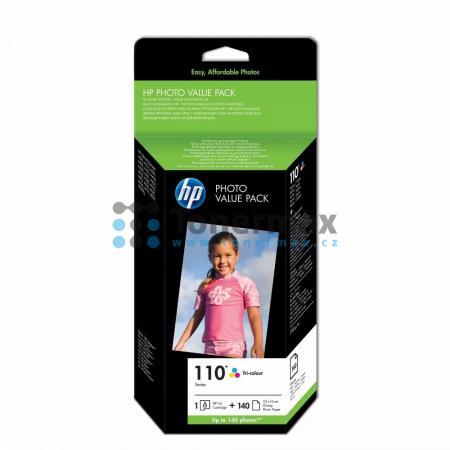 HP 110, HP Q8898AE + 140 listů 10x15cm, originální cartridge pro tiskárny HP Photosmart A310, Photosmart A314, Photosmart A320, Photosmart A432, Photosmart A433, Photosmart A434, Photosmart A436, Photosmart A440, Photosmart A441, Photosmart A442, Photosma