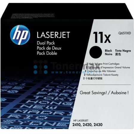 HP 11X, HP Q6511X, originální toner pro tiskárny HP LaserJet 2410, LaserJet 2420, LaserJet 2420d, LaserJet 2420dn, LaserJet 2420n, LaserJet 2430, LaserJet 2430dtn, LaserJet 2430n, LaserJet 2430t, LaserJet 2430tn