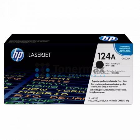 HP 124A, HP Q6000A, originální toner pro tiskárny HP Color LaserJet 1600, Color LaserJet 2600n, Color LaserJet 2605, Color LaserJet 2605dn, Color LaserJet 2605dn xi, Color LaserJet 2605dtn, Color LaserJet CM1015 MFP, Color LaserJet CM1015, Color LaserJet