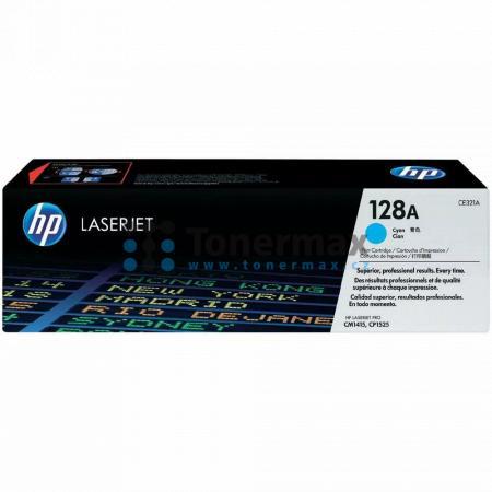HP 128A, HP CE321A, originální toner pro tiskárny HP LaserJet CP1525n color, LaserJet Pro CP1525n, LaserJet CP1525nw color, LaserJet Pro CP1525nw, LaserJet Pro CM1415 Color MFP, LaserJet Pro CM1415, LaserJet Pro CM1415fn Color MFP, LaserJet Pro CM1415fn,