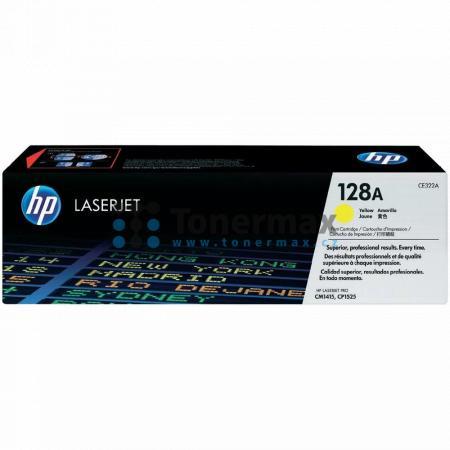 HP 128A, HP CE322A, originální toner pro tiskárny HP LaserJet CP1525n color, LaserJet Pro CP1525n, LaserJet CP1525nw color, LaserJet Pro CP1525nw, LaserJet Pro CM1415 Color MFP, LaserJet Pro CM1415, LaserJet Pro CM1415fn Color MFP, LaserJet Pro CM1415fn,