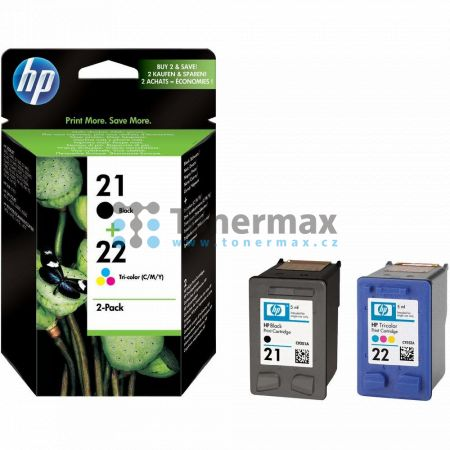 HP 21 / HP 22, HP SD367AE, originální cartridge pro tiskárny HP 3180 fax, Deskjet 3910, Deskjet 3918, Deskjet 3920, Deskjet 3930, Deskjet 3930v, Deskjet 3938, Deskjet 3940, Deskjet 3940v, Deskjet D1311, Deskjet D1320, Deskjet D1330, Deskjet D1341, Deskjet