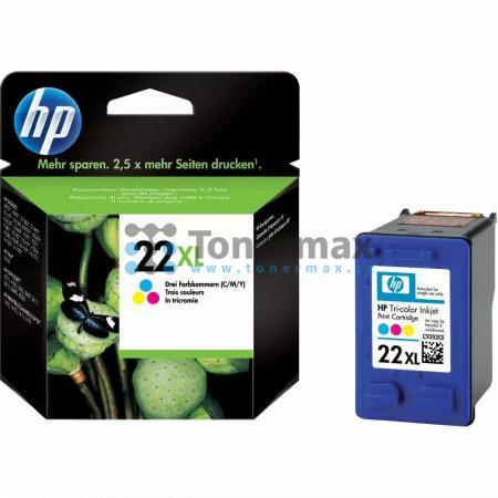 HP 22XL, HP C9352CE, originální cartridge pro tiskárny HP 3180 fax, Deskjet 3910, Deskjet 3918, Deskjet 3920, Deskjet 3930, Deskjet 3930v, Deskjet 3938, Deskjet 3940, Deskjet 3940v, Deskjet D1311, Deskjet D1320, Deskjet D1330, Deskjet D1341, Deskjet D1360