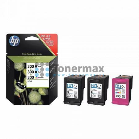 HP 300, HP SD518AE, 3-Pack, originální cartridge pro tiskárny HP Deskjet D1660, Deskjet D1668, Deskjet D2530, Deskjet D2545, Deskjet D2560, Deskjet D2645, Deskjet D2660, Deskjet D2668, Deskjet D2680, Deskjet D5560, Deskjet F2420 All-in-One, Deskjet F2430,