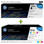 HP 304A, HP CF372AM + HP CC530AD