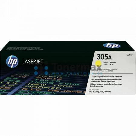 HP 305A, HP CE412A, originální toner pro tiskárny HP LaserJet Pro 300 color M351a, LaserJet Pro 300 color M351, LaserJet Pro 300 color MFP M375nw, LaserJet Pro 300 color MFP M375, LaserJet Pro 400 color M451dn, LaserJet Pro 400 color M451, LaserJet Pro 40