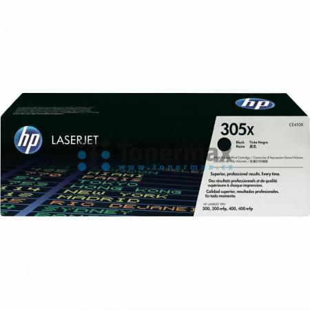 HP 305X, HP CE410X, originální toner pro tiskárny HP LaserJet Pro 300 color M351a, LaserJet Pro 300 color M351, LaserJet Pro 300 color MFP M375nw, LaserJet Pro 300 color MFP M375, LaserJet Pro 400 color M451dn, LaserJet Pro 400 color M451, LaserJet Pro 40