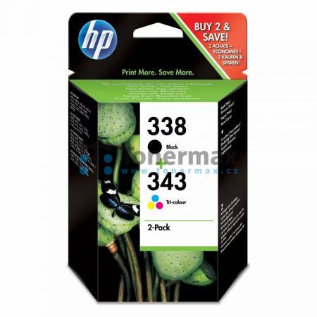 HP 338 + HP 343, HP SD449EE, originální cartridge pro tiskárny HP Deskjet 460, Deskjet 460c, Deskjet 460cb, Deskjet 460wbt, Deskjet 460wf, Deskjet 5740, Deskjet 5740xi, Deskjet 5743, Deskjet 5745, Deskjet 5748, Deskjet 6520, Deskjet 6540, Deskjet 6540d, D