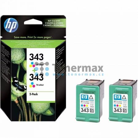 HP 343, HP CB332EE, dvoubalení, originální cartridge pro tiskárny HP Deskjet 460, Deskjet 460c, Deskjet 460cb, Deskjet 460wbt, Deskjet 460wf, Deskjet 5740, Deskjet 5740xi, Deskjet 5743, Deskjet 5745, Deskjet 5748, Deskjet 5940, Deskjet 5940xi, Deskjet 594