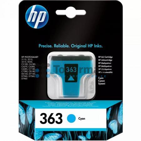 HP 363, HP C8771EE, originální cartridge pro tiskárny HP Photosmart 3107, Photosmart 3108, Photosmart 3110, Photosmart 3110v, Photosmart 3110xi, Photosmart 3210, Photosmart 3210a, Photosmart 3210v, Photosmart 3210xi, Photosmart 3213, Photosmart 3214, Phot