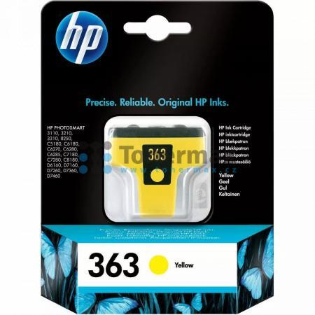 HP 363, HP C8773EE, originální cartridge pro tiskárny HP Photosmart 3107, Photosmart 3108, Photosmart 3110, Photosmart 3110v, Photosmart 3110xi, Photosmart 3210, Photosmart 3210a, Photosmart 3210v, Photosmart 3210xi, Photosmart 3213, Photosmart 3214, Phot