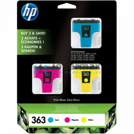 HP 363, HP CB333EE, originální cartridge pro tiskárny HP Photosmart 3107, Photosmart 3108, Photosmart 3110, Photosmart 3110v, Photosmart 3110xi, Photosmart 3210, Photosmart 3210a, Photosmart 3210v, Photosmart 3210xi, Photosmart 3213, Photosmart 3214, Phot