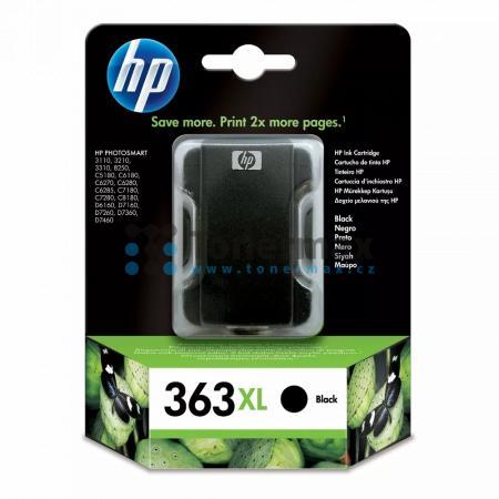 HP 363 XL, HP C8719EE, originální cartridge pro tiskárny HP Photosmart 3107, Photosmart 3108, Photosmart 3110, Photosmart 3110v, Photosmart 3110xi, Photosmart 3210, Photosmart 3210a, Photosmart 3210v, Photosmart 3210xi, Photosmart 3213, Photosmart 3214, P