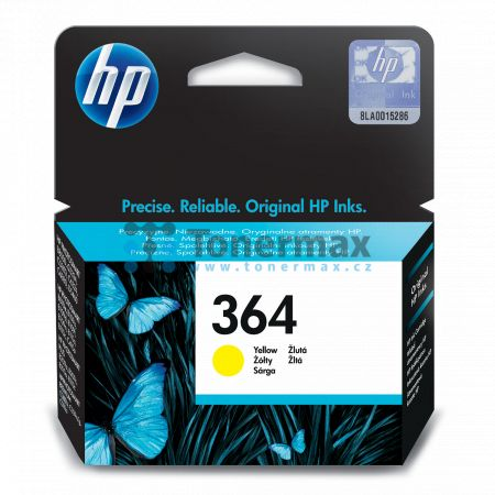 HP 364, HP CB320EE, originální cartridge pro tiskárny HP Deskjet 3070A, Deskjet 3520 e-All-in-One, Officejet 4620, Officejet 4622, Photosmart 5510, Photosmart 5515, Photosmart 5520, Photosmart 6510, Photosmart 6520, Photosmart 7510, Photosmart 7520, Photo