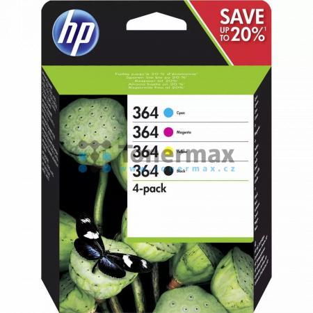 HP 364, HP N9J73AE, 4-pack, originální cartridge pro tiskárny HP Deskjet 3070A, Deskjet 3520 e-All-in-One, Officejet 4620, Officejet 4622, Photosmart 5510, Photosmart 5515, Photosmart 5520, Photosmart 6510, Photosmart 6520, Photosmart 7510, Photosmart 752