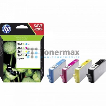 HP 364XL, HP N9J74AE, 4-pack, originální cartridge pro tiskárny HP Deskjet 3070A, Deskjet 3520 e-All-in-One, Officejet 4620, Officejet 4622, Photosmart 5510, Photosmart 5515, Photosmart 5520, Photosmart 6510, Photosmart 6520, Photosmart 7510, Photosmart 7
