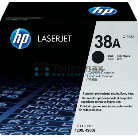 HP 38A, HP Q1338A, originální toner pro tiskárny HP LaserJet 4200, LaserJet 4200L, LaserJet 4200Ln, LaserJet 4200Lvn, LaserJet 4200dtn, LaserJet 4200dtns, LaserJet 4200dtnsl, LaserJet 4200n, LaserJet 4200tn