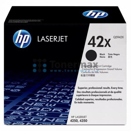 HP 42X, HP Q5942X, originální toner pro tiskárny HP LaserJet 4250, LaserJet 4250dtn, LaserJet 4250dtnsl, LaserJet 4250n, LaserJet 4250tn, LaserJet 4350, LaserJet 4350dtn, LaserJet 4350dtnsl, LaserJet 4350n, LaserJet 4350tn
