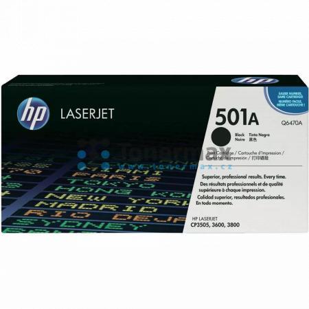 HP 501A, HP Q6470A, originální toner pro tiskárny HP Color LaserJet 3600, Color LaserJet 3600dn, Color LaserJet 3600n, Color LaserJet 3800, Color LaserJet 3800dn, Color LaserJet 3800dtn, Color LaserJet 3800n, Color LaserJet CP3505, Color LaserJet CP3505dn
