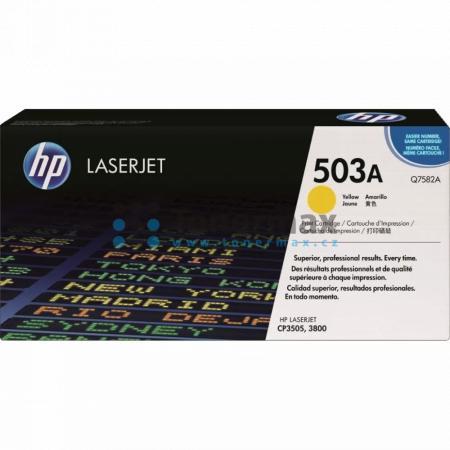 HP 503A, HP Q7582A, originální toner pro tiskárny HP Color LaserJet 3800, Color LaserJet 3800dn, Color LaserJet 3800dtn, Color LaserJet 3800n, Color LaserJet CP3505, Color LaserJet CP3505dn, Color LaserJet CP3505n, Color LaserJet CP3505x